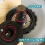 グラインダーの固定フランジの取り付け方
