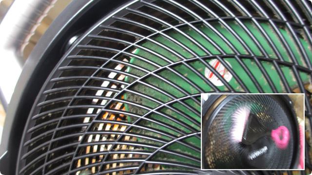 充電ファンの羽根を効率よく掃除する方法