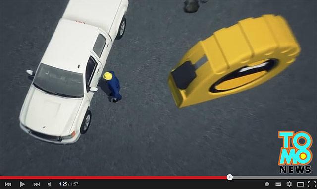 メジャー 落下事故