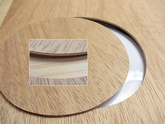 ベニヤ板を円形にカット