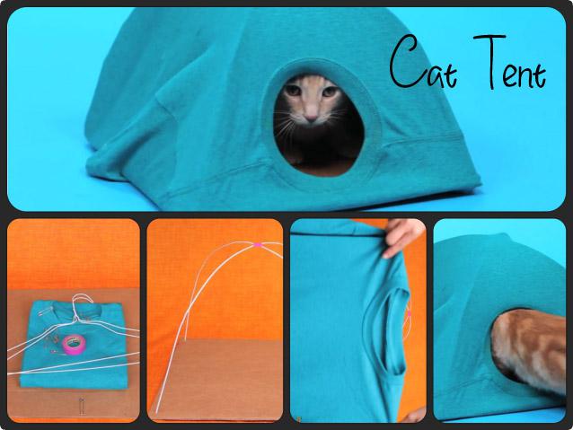 誰でも簡単に作れる猫テント