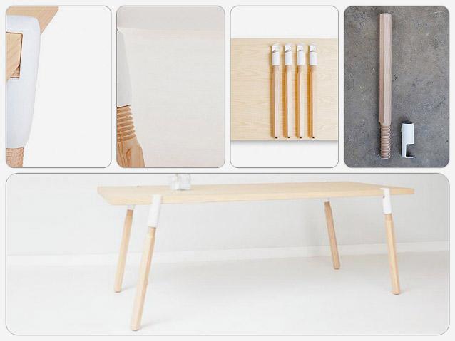板状のものを机に変える魔法の脚