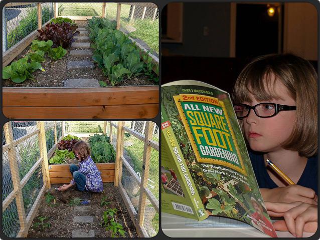 野菜を作る少女
