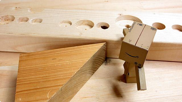 木材 穴あけ加工