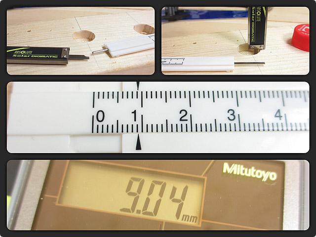 穴の深さを測定
