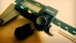 ミツトヨのABSデジマチックキャリパ-ボタン電池