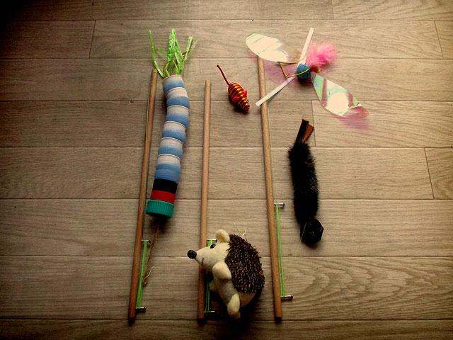 手作り猫のおもちゃ