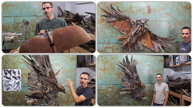 HAWK SCULPTURE PROCESS