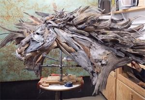 廃材を使ったアート」なのに、古さを全く感じさせない動物たち
