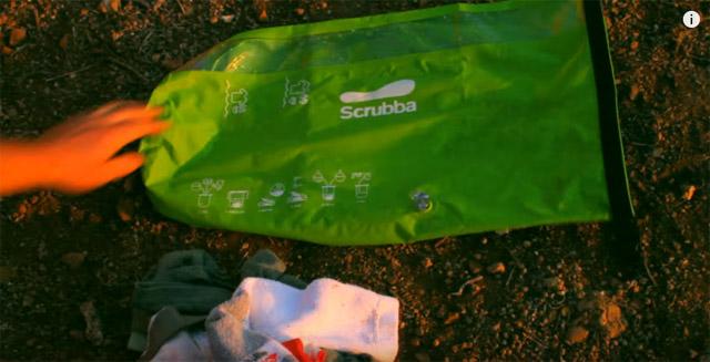 携帯用洗濯袋「Scrubba(スクラバ) 」
