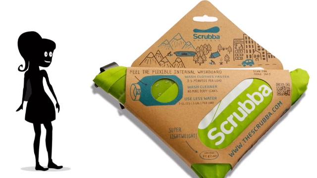 電気がなくても洗濯できる携帯用洗濯袋「Scrubba(スクラバ) 」