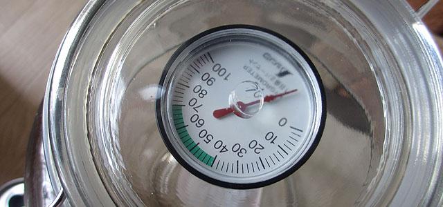 密封瓶 湿度計 固定
