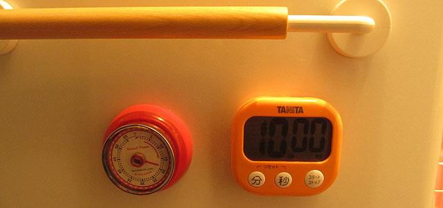 タニタ でか見えタイマー100分 ホワイト TD-384