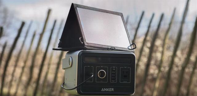 Anker-PowerHouse-ソーラーパネル