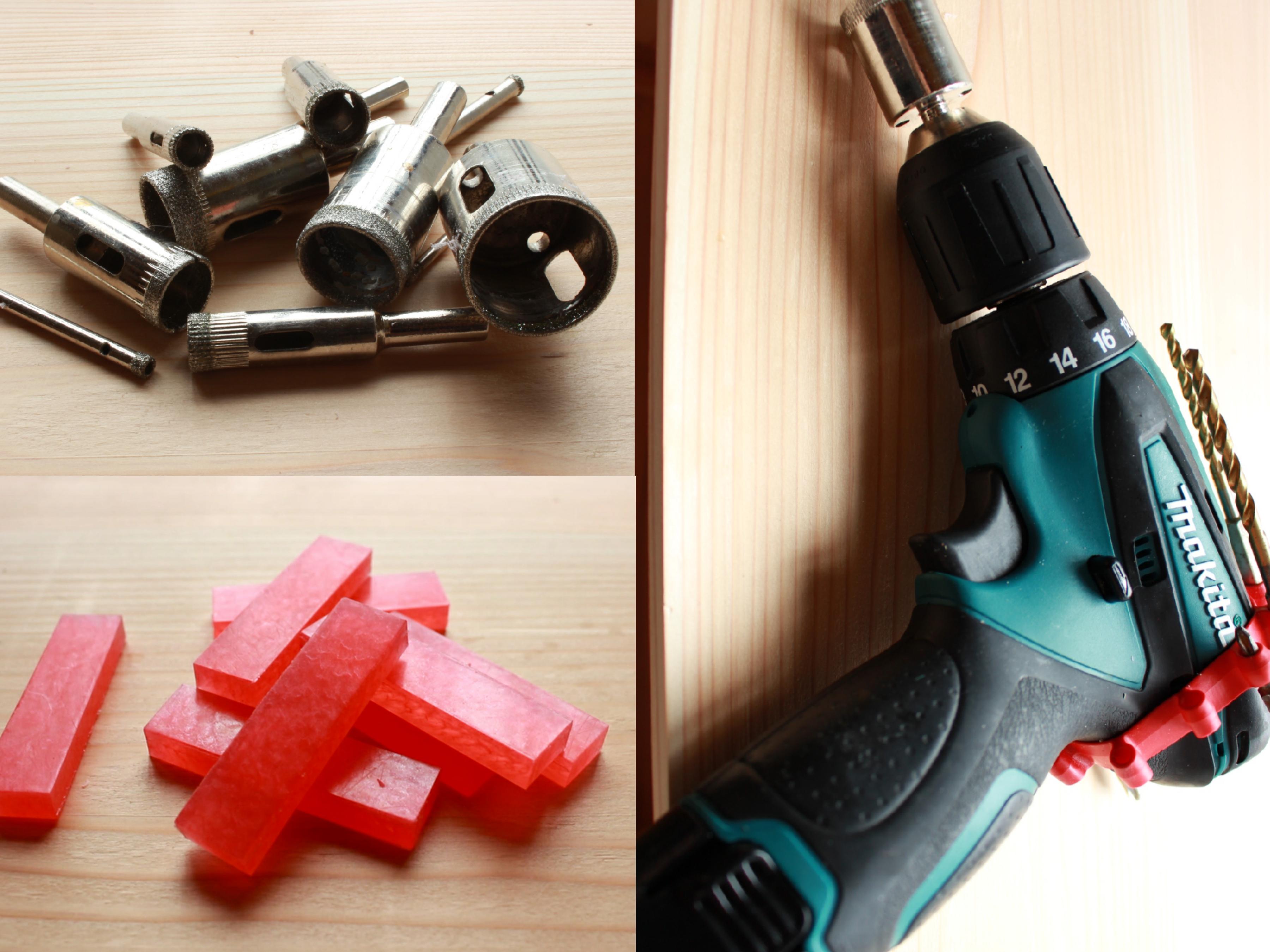 空き瓶に穴をあけるために必要な工具