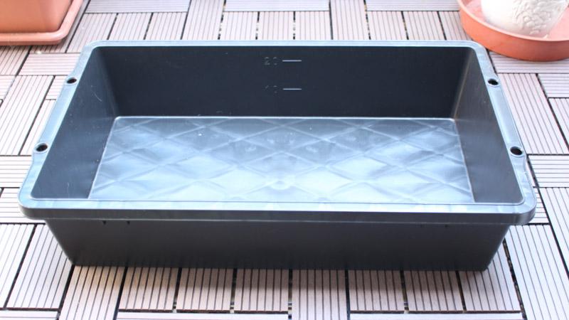 赤長 トロ舟 ブラック 25L(ビオトープ)