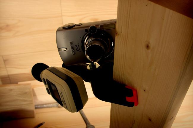 自作-クリップ式カメラ固定スタンド