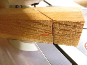 丸ノコ|レーザー自作 切断面(45°)