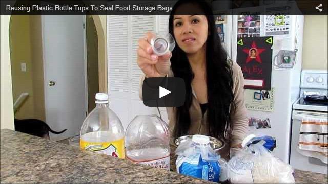ペットボトルで袋を密封にする方法
