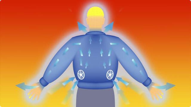 空調服のファンの役割