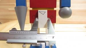 パーツの外径測定