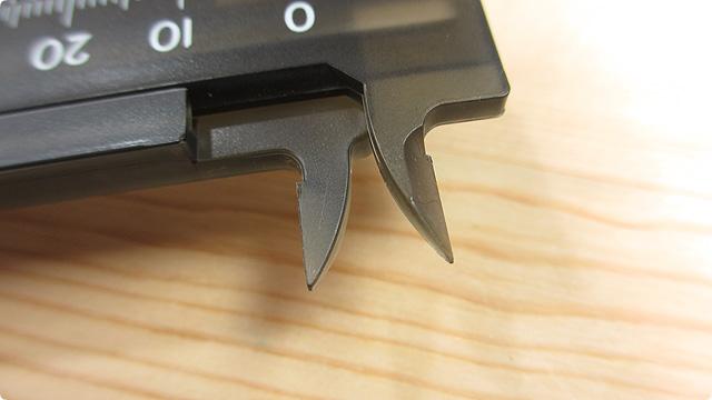 シンワ測定 プラスチックノギスポッケ 19515(内側ジョウ)