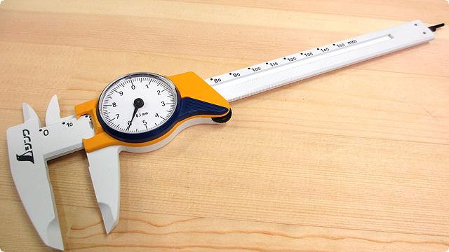 シンワ ファイバーノギス ダイヤル式15cm