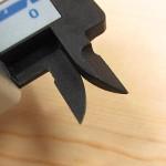 シンワ デジタルノギス カーボンファイバー製 100mm 19978(内側ジョウ)