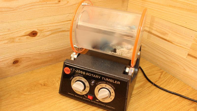 回転バレル研磨機(回転タンブラー)