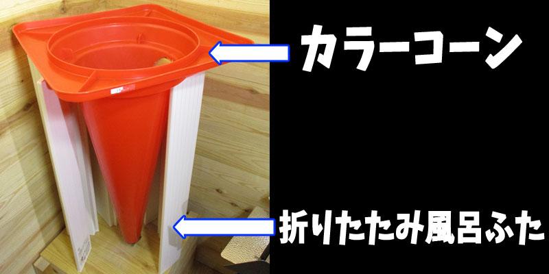 ウェットブラスト(工事用カラーコーン)