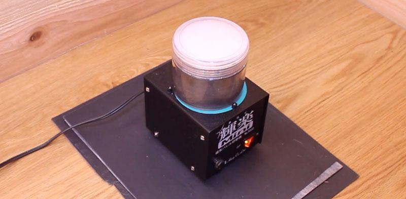 磁器バレル研磨機(輝楽)の遮音