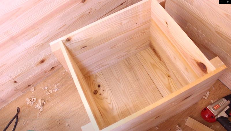 バレル研磨機の防音対策(木箱)