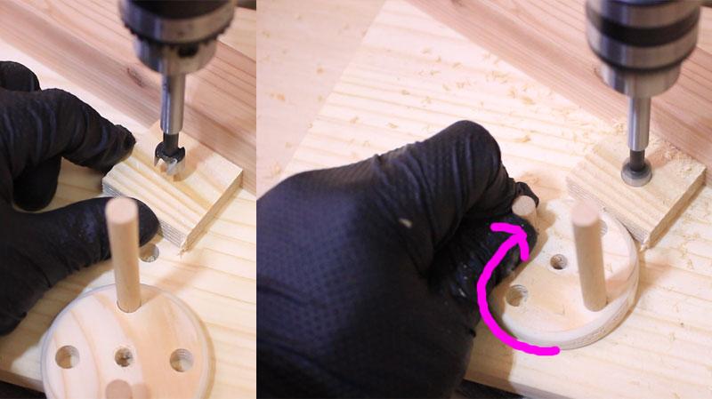ボール盤(小さい材料を固定する方法)