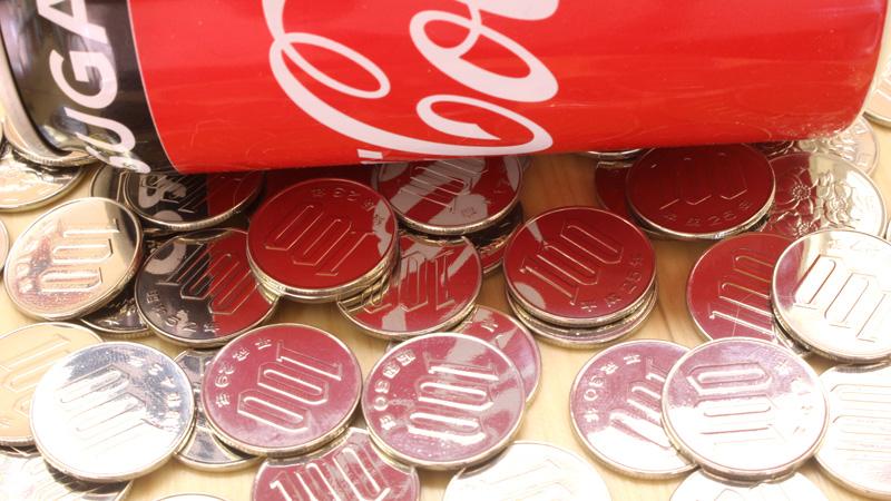 100円玉 大量鏡面
