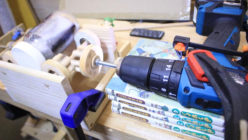 自作 回転バレル研磨機