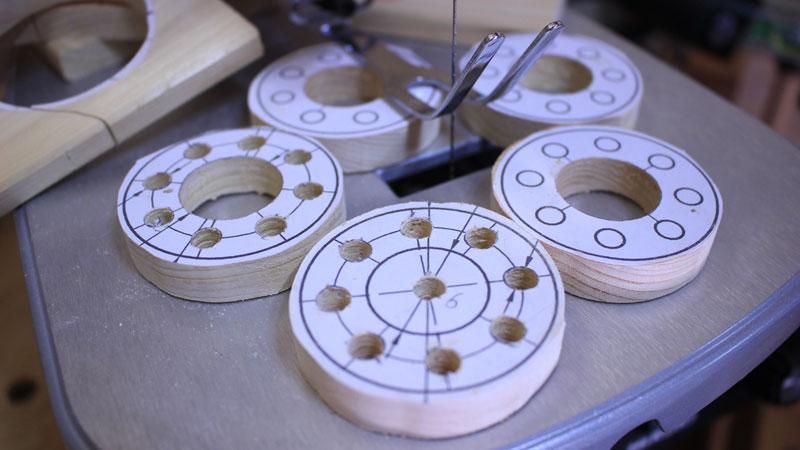 ピン歯車(糸ノコ盤 )