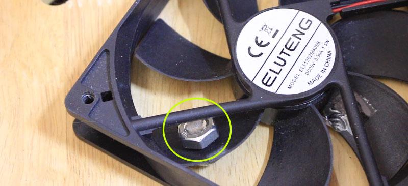 USBファン(偏心振動)