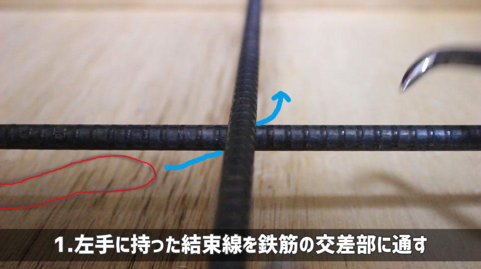 ハッカーを使った結束線の縛り方-1