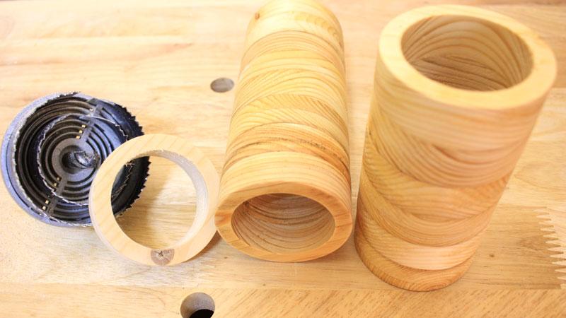 完成品(木の円柱状)