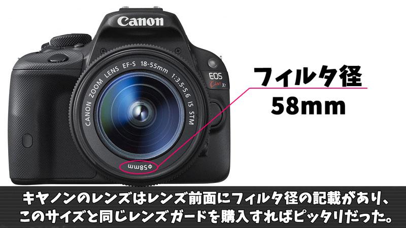 レンズガード サイズの選び方(Canon)