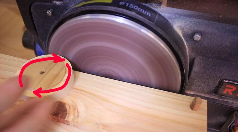 リング板の外周を効率よく研磨する治具