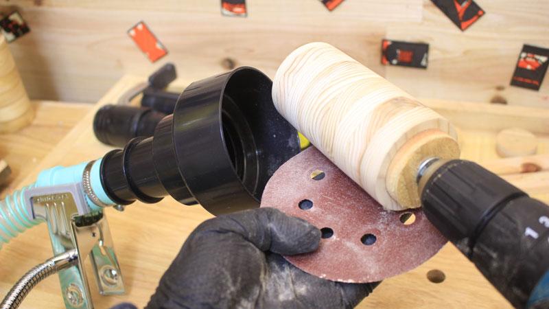 円柱のペン立て 研磨