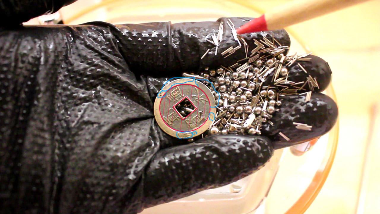 回転バレル研磨機:磁気バレル用ステンレスワイヤーピン