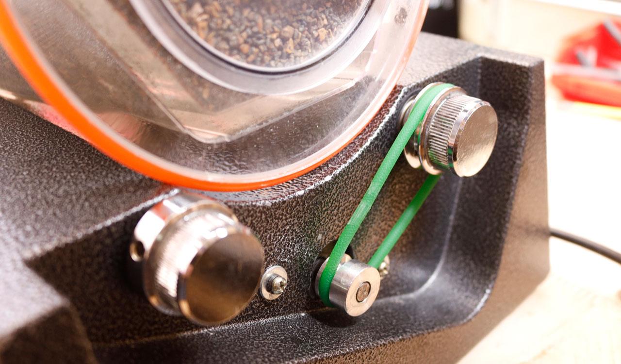 回転バレル研磨機(KT6808/KT2000)タイミングベルトの代用品