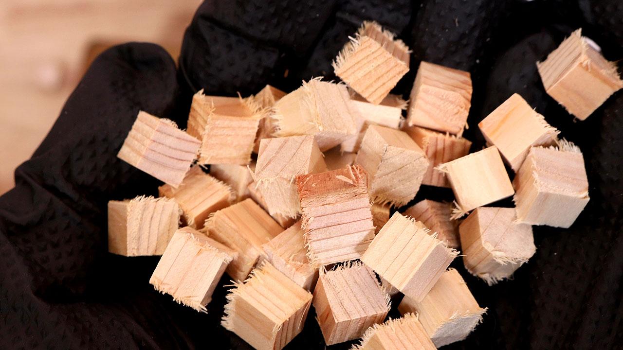 木片のバリ