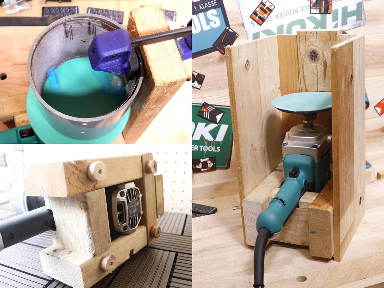 ウッドキューブ 自動研磨機