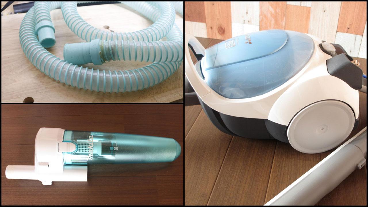 紙パック掃除機+サイクロンアタッチメント