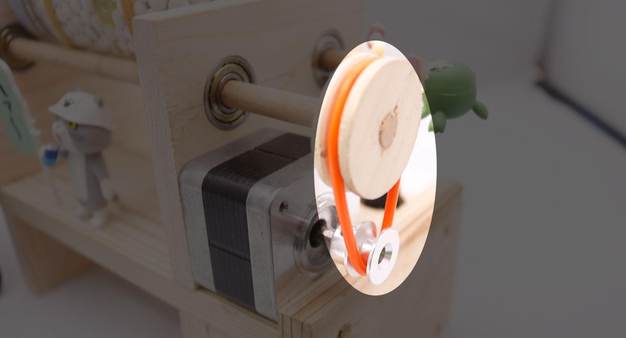 回転バレル研磨機(丸ベルト)
